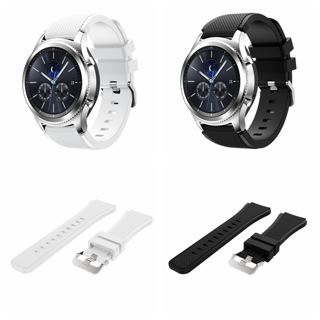 Onthelevel for Samsung gear S3 classic sports silicone belt 22MM waterproof and sweat-proof strap 4