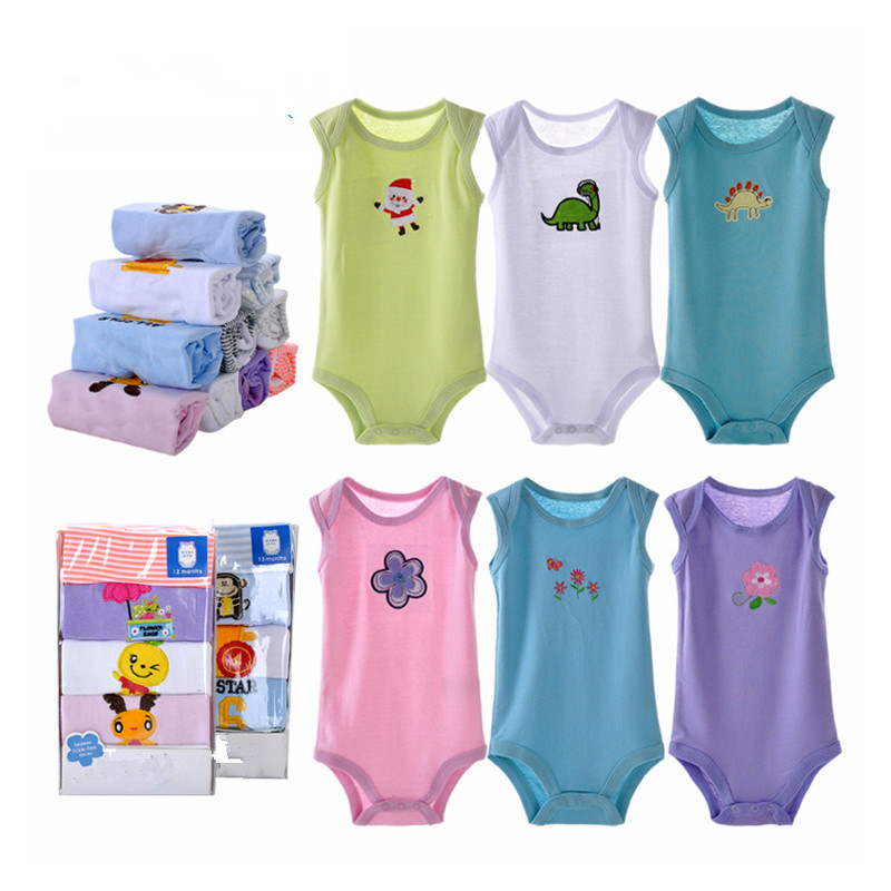 5/3Pcs Unisex Baby Romper Cotton Baby Boy Clothes Newborn Baby Clothes 2018 Summer Baby Girl Clothes Ropas Bebe Infant Jumpsuits