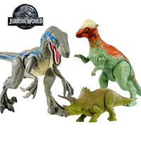 16 20cm Original Jurassic World Toys Attack Pack Velociraptor Triceratops Dragon PVC Action Figure Model Dolls Toys For Children