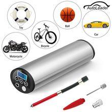 150PSI 12 V Pantalla LCD Eléctrica Recargable Portátil de Compresor De Aire Auto Del Coche Bicicleta Del Neumático Del Neumático Para Inflar Con aire de La Bomba