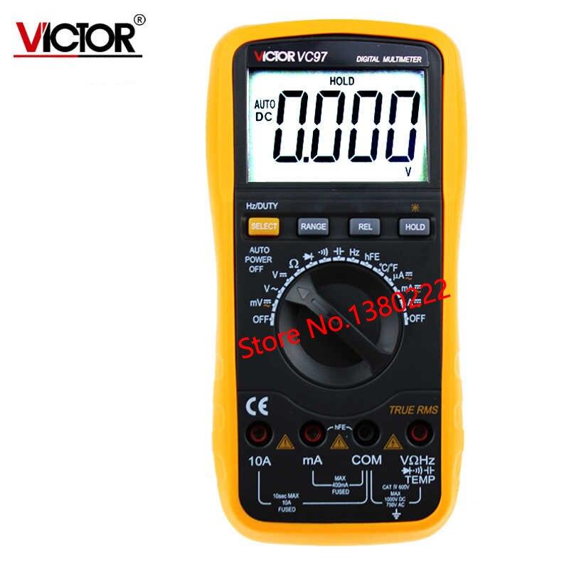 ФОТО True RMS Digits Multimeter  4000 Counts Victor VC97 AC DC Voltmeter Capacitance Resistance digital Multimeter