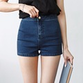 Tengo Fashion Elastic High Waist Women Shorts Stretch Denim Shorts Women Casual Sexy Dance Short Jeans Femme Short Trousers