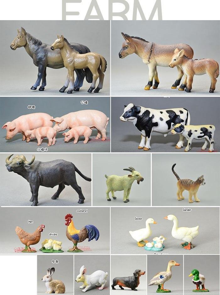 Modèle animal de ferme en PVC jouet animaux sauvages figure 24 pièces/ensemble
