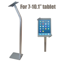 Flexible Tablet Seurity Floor Stand Ipad Display Bracket Samsung Tablet Lock Case Holder Anti Theft For