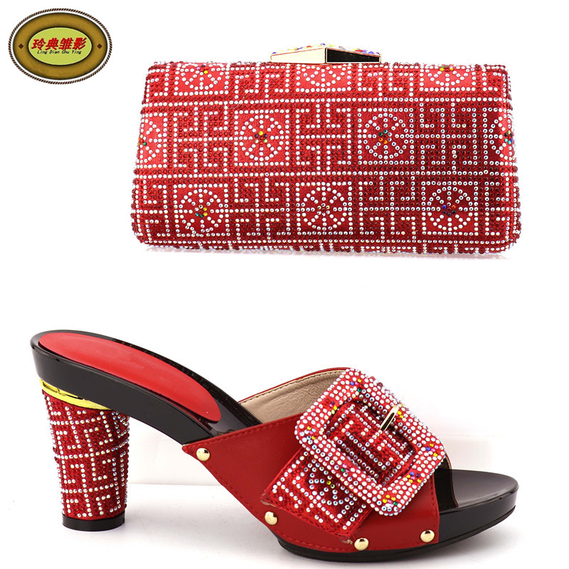 2088-996 Top Quality African Sandals High Heels Matching Bag With Stone New Arrival Italian Shoes And Bag For Wedding рубашка gerry weber gerry weber ge002ewwra96