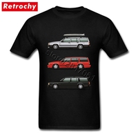 JDM T Shirt Volvo T Shirt 740 745 Turbo Wagon Trio Couple Fitness TShirt Mens Short