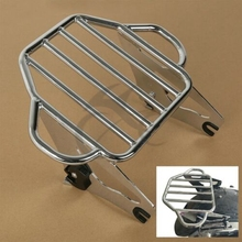 Motorcycle Chrome/Black Detachable 2-Up Tour Pak Mount Luggage Rack For Harley Touring Street Glide Road 09-18