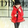 Menina de roupas infantis criança amassado casacos de inverno-algodão jaqueta acolchoada parágrafo Curto espessamento de algodão-acolchoado de alta qualidade