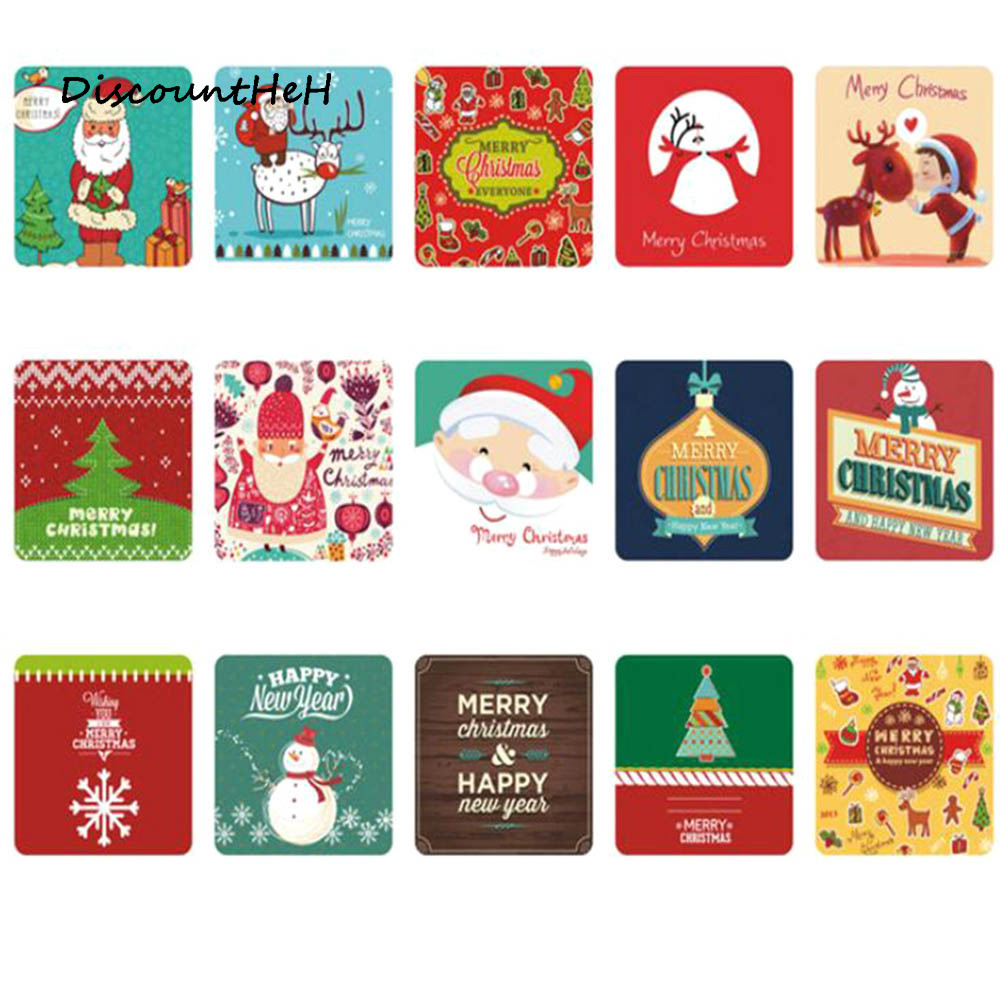 38 Sheets/box Mini Christmas Paper Sticker Decoration Decal DIY Album Scrapbooking Seal Sticker Kawaii Stationery Gift Memo Pad b1a4 7th mini album rollin random cover release date 2017 09 28