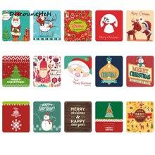 38 Sheets/box Mini Christmas Paper Sticker Decoration Decal DIY Album Scrapbooking Seal Sticker Kawaii Stationery Gift Memo Pad