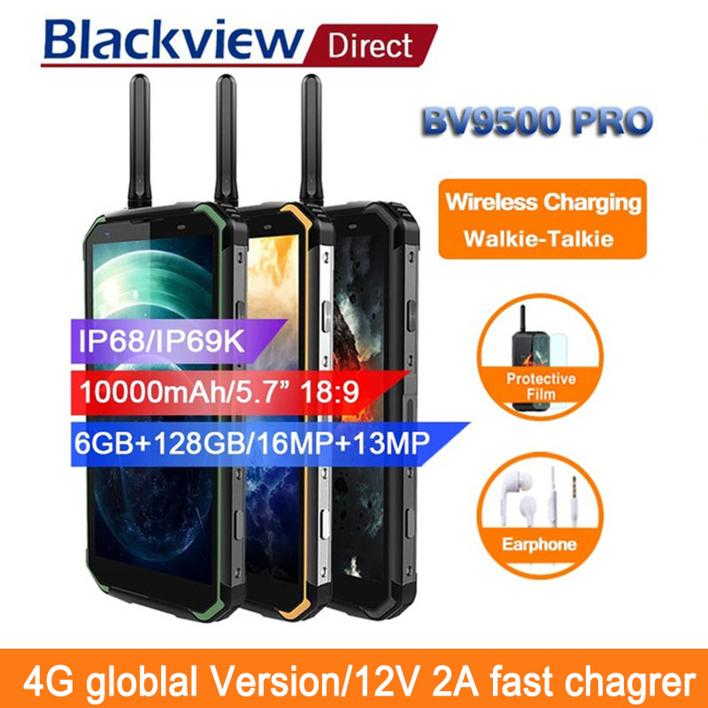 Blackview BV9500 pro 10000 mah IP68 Étanche Smartphone android 8.1 5.7 18:9 6 gb 128 gb talkie walkie visage ID 4g mobile téléphones
