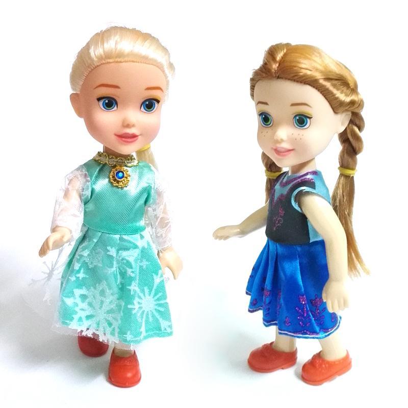 YENI 1 adet Mini Prenses Elsa Anna Bebek Bebekler Çocuk Karikatür Oyuncaklar Için Çocuk Kız Bebek Kar Kraliçe Oyuncak