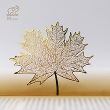 Vintage Golden Hollow Sycamore Leaves Design Metal Bookmark for Books School Students Bookmarks Beautiful Gifts