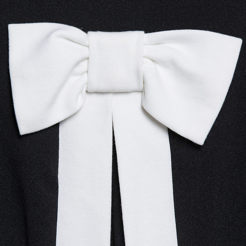 Sisjuly abiti vintage da donna nero bianco a line manica lunga al ginocchio  arco elegante moda femminile nuovo abiti vintage 2018 in Sisjuly abiti  vintage ... ad818ee6bb3
