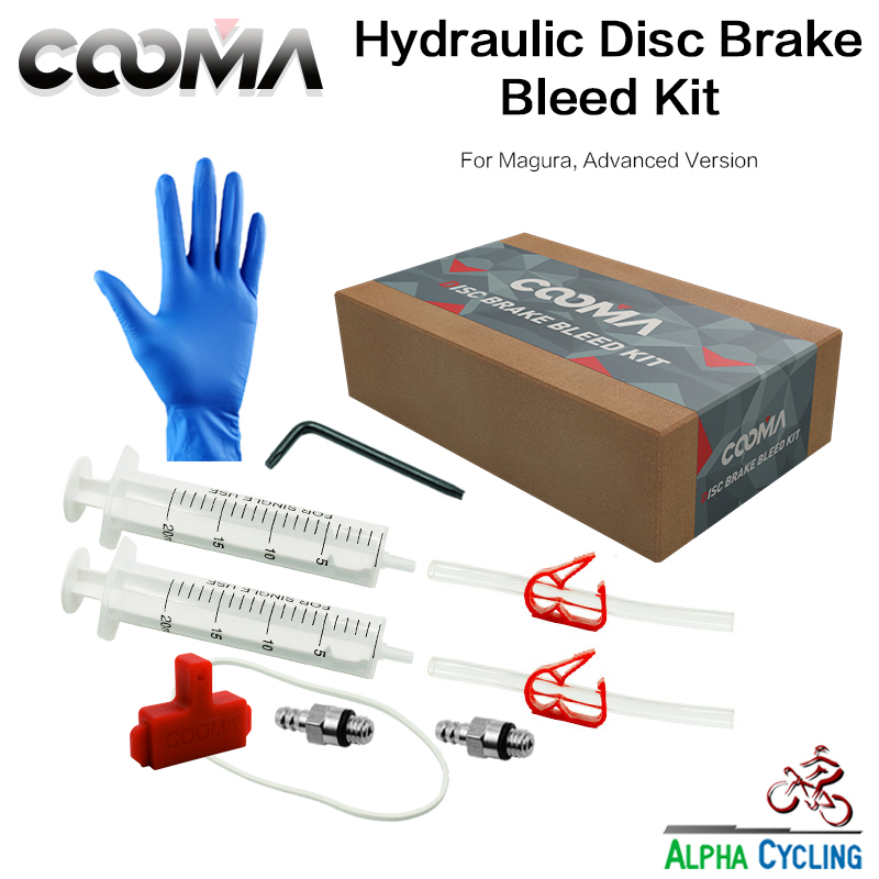 Bicycel Hydraulic Brake Bleed kit untuk Sistem Rem Magura MT Series, sistem Minyak Rem Minyak, Advanced Bleed Kit, V1.0