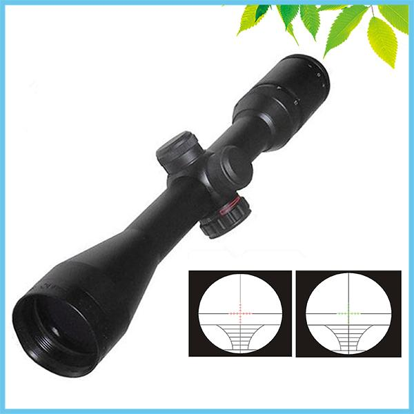 цены  3-9X40 Red Green Dot Riflescope Sniper Tictial Hunting Rifle Scope with Rangefinder Reticle