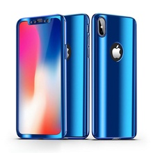 360 Full Protective Cover for iPhone 7 8 plus Xr Xs Max Case Protection Mirror For 6 6s se 5s Plasitc
