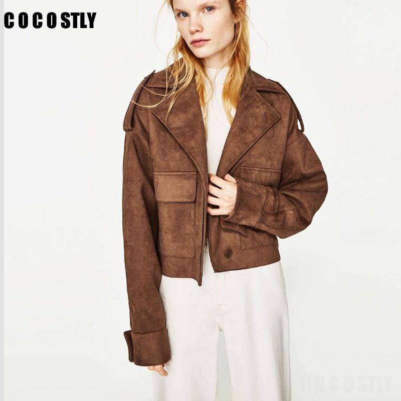 Online Get Cheap Ladies Brown Leather Jacket -Aliexpress.com ...