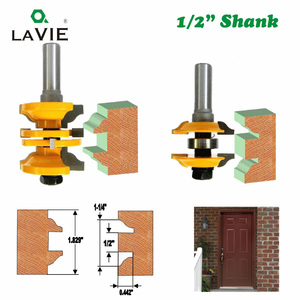 "Image 5 - LAVIE 2pcs 12mm 1/2"" Shank Entry & Interior Door Ogee Router Bit Matched MIlling Cutter Set for Wood Woodworking Machine  03123"