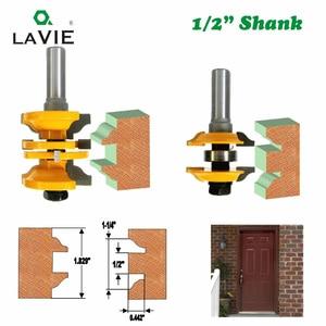 """Image 5 - Set di frese LAVIE 2 pezzi 12mm 1/2 """"con codolo e porta interna, Set di frese abbinata per macchina per la lavorazione del legno 03123"""