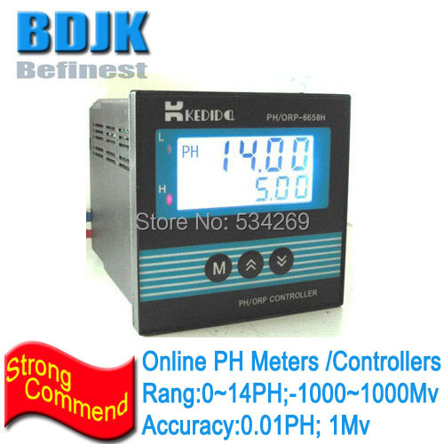 Online PH Meters Industrial PH Controller 0~14ph Waste Water PH Measuring Instrument  цены