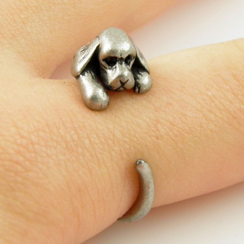 1b7ae077d4 ᗖQIAMNI Retro Kitty Cat Star Tail Adjustable Animal Ring Vintage ...