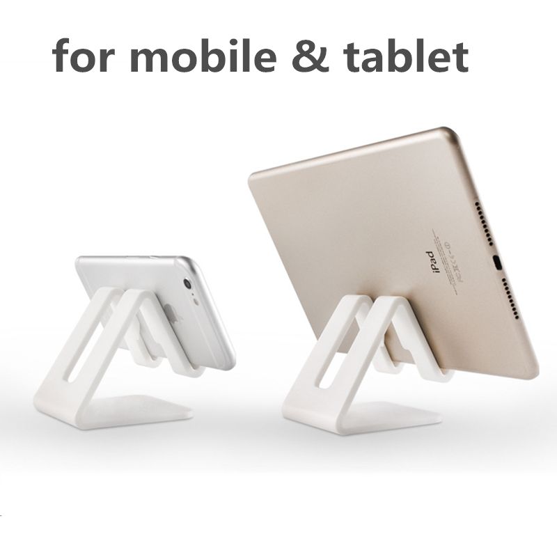 Image 4 - HOTR Universal Desk Holder Tablet Mobile Phone Holder with Shock proof Silicone Pad Strong Plastic Cell Phone Holder Stand Mount-in Phone Holders & Stands from Cellphones & Telecommunications