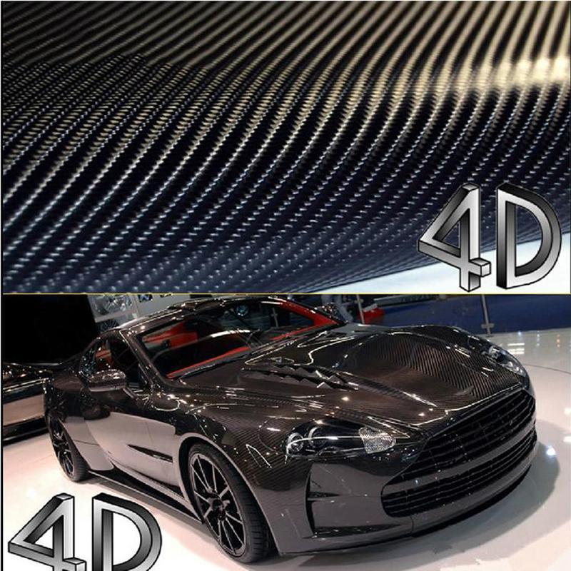 3D Car Sticker Black Carbon Fiber Vinyl Vehicle Wrap Film Sheet  Various size US