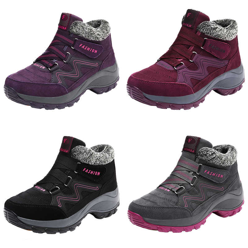 91d30748139 TKN 2019 Spring Women Krasovki Snow Boots Warm Plush Ankle Boots Platform  Wedge Waterproof Boots Shoes Woman Rubber Boots 6139