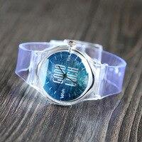 Fashion Transparent Women S Quartz Wristwatches Plastic Watches For Girls Women S Bracelet Watch Relogio Feminino