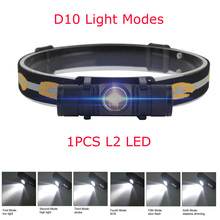 BORUIT Brand 1000LM 3W L2 LED Headlight Mini White Light Head Lamp Flashlight 18650 Battery Headlamp For Camping Fishing Hunting