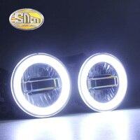 LED Angel Eyes LED Daytime Running Light LED Fog Light Foglamp For Nissan Pathfinder 2005 2015