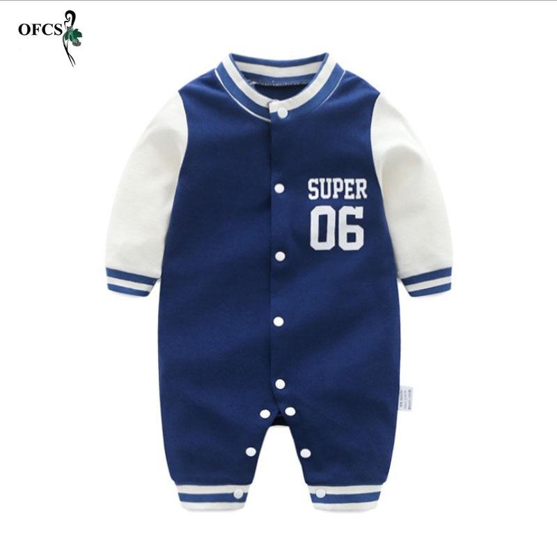 Autumn Baby   Rompers   Boy Girl Clothes Child Dress Cotton Newborn Baby Clothes Roupas Infant Jumpsuits Kids Baseball Uniform