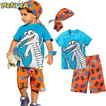 Free-shipping-2017-spring-style-children-s-clothes-sets-boy-2-6-y-short-sleeves-T