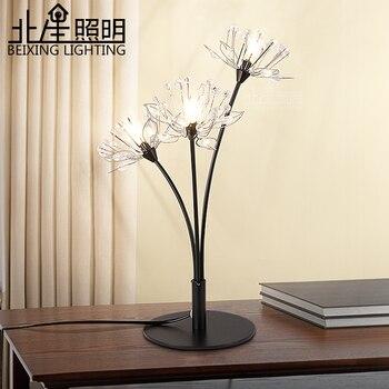 Современная креативная светодиодная Хрустальная настольная лампа K9, Хрустальная столовая, для гостиной, для прихожей, хрустальный свет 220В/...