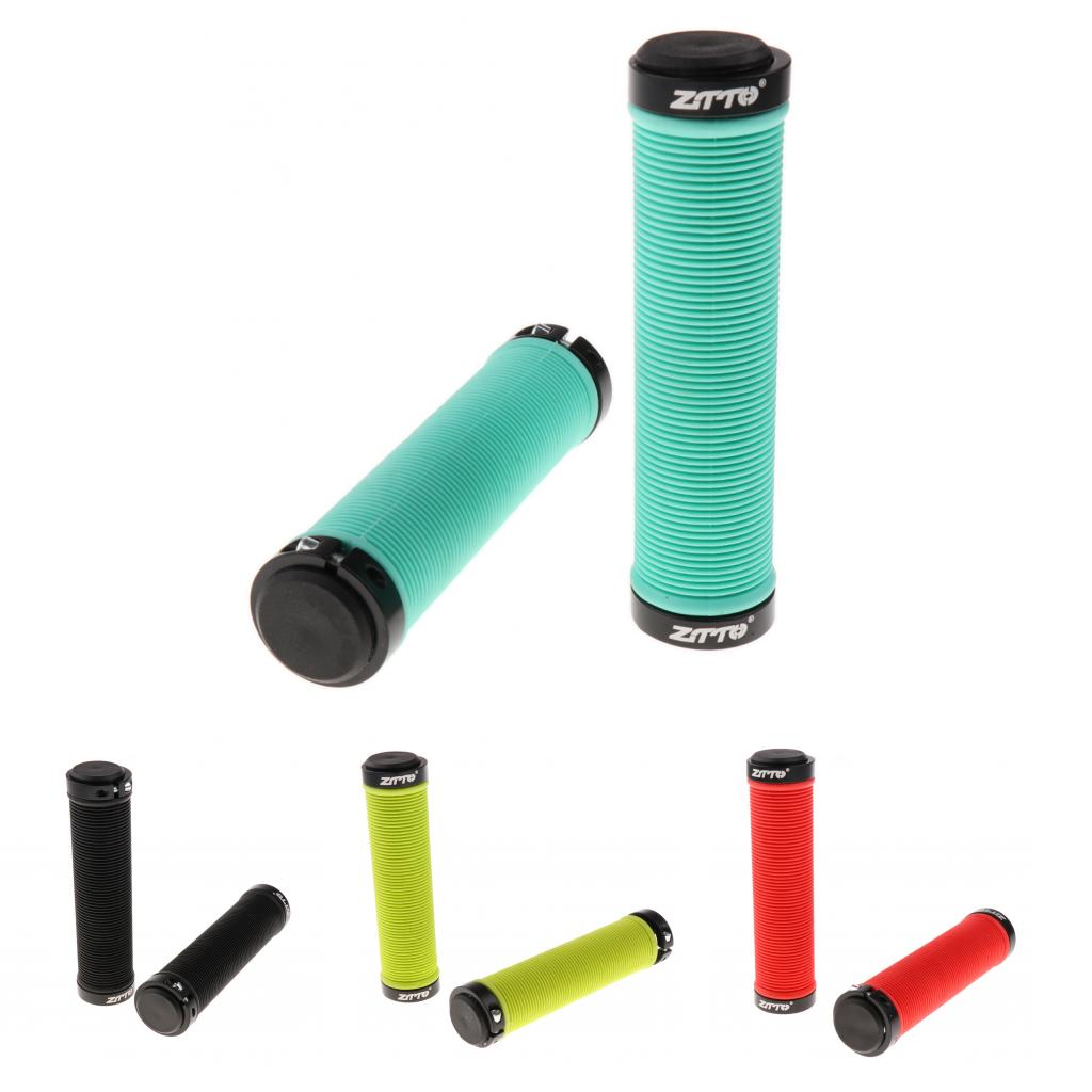 <font><b>Bicycle</b></font> <font><b>Parts</b></font> MTB Bike Handlebar Grips Silicone Gel Lock on Anti slip <font><b>Bicycle</b></font> Grips Ends 13cm*22mm Black/Red/Green/Yellow image
