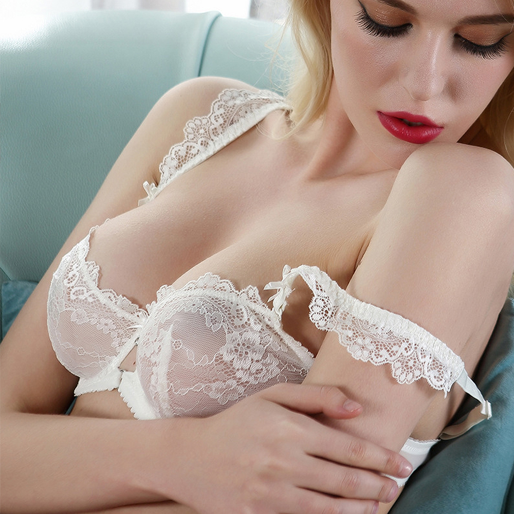 cc32dcb17f1b Vogue Secret New sexy lace bra briefs set ultra thin embroidery woman  lolita girl bra set