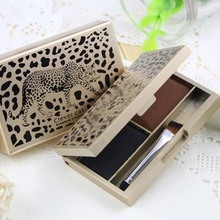 Makeup Cosmetic Shiny Eye shadow Eyebrow Eye Brow Powder Palette 6G 2 Shades xgrj