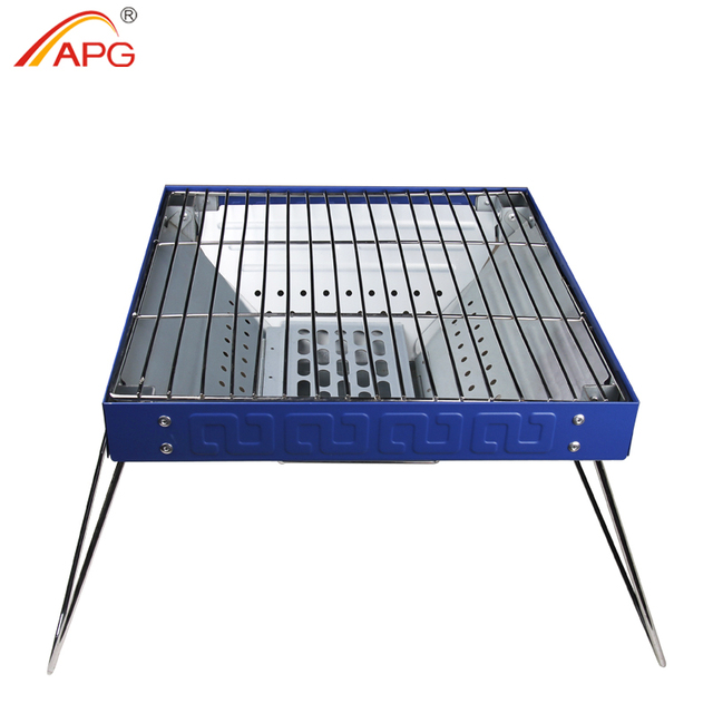 APG Barbecue Grill For Outdoor Camping Portable Charcoal BBQ Stove Folding Household Carbon Oven