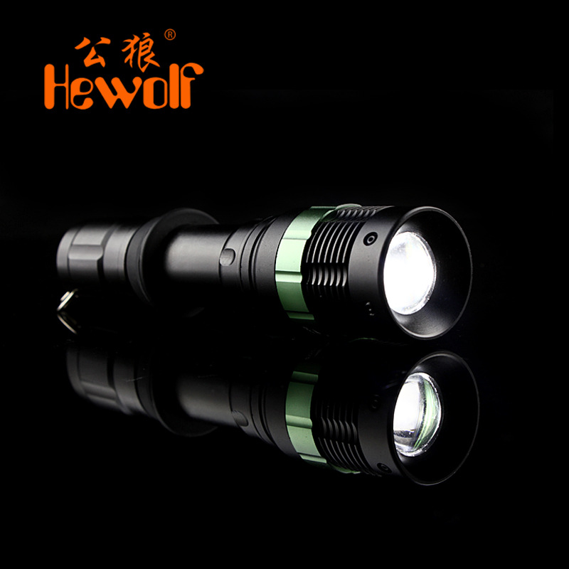 LED flashlight strong light and strong light LED mini portable family waterproof small outdoor camping flashlight 18650 battery