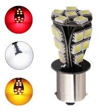 1156 21 SMD BAU15S kırmızı beyaz sarı led araba ampülleri canbus hiçbir hata py21w lamba harici araba ışıkları ışık kaynağı 12V