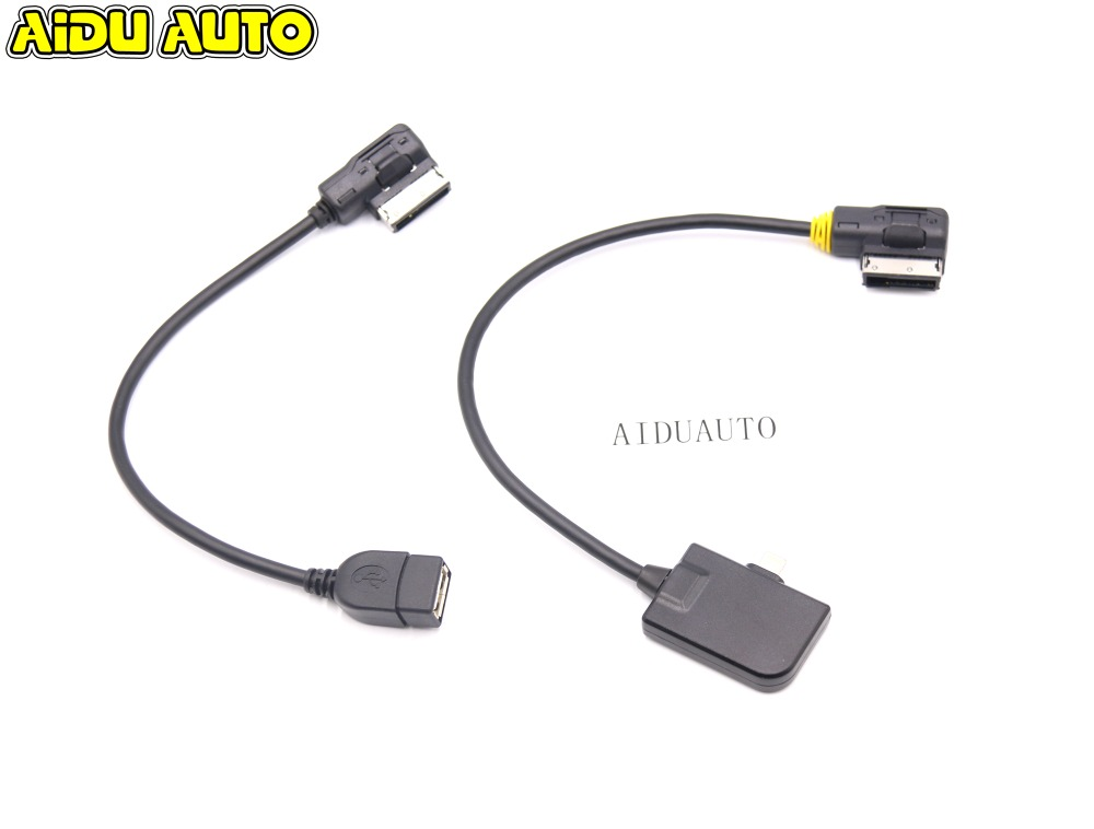 AMI MMI Cable For Iphone 5 5S 6 7 X Ipad Ipod Lightning & USB For Audi A1 A3 A4 A5 A6 A7 A8L A6L Q5 Q7 Q3 ami mmi cable for iphone 5 5s 6 7 x ipad ipod lightning