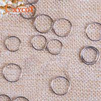 Anneaux en acier inoxydable cristal pour lustre 12mm pièces de boule de Chrome accessoires de rideau de perles reliant des perles octogonales