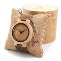 2016 Nova Fasion japonês miyota 2035 movimento relógios de pulso couro relógios com caixa de presente de madeira de bambu relogio masculino