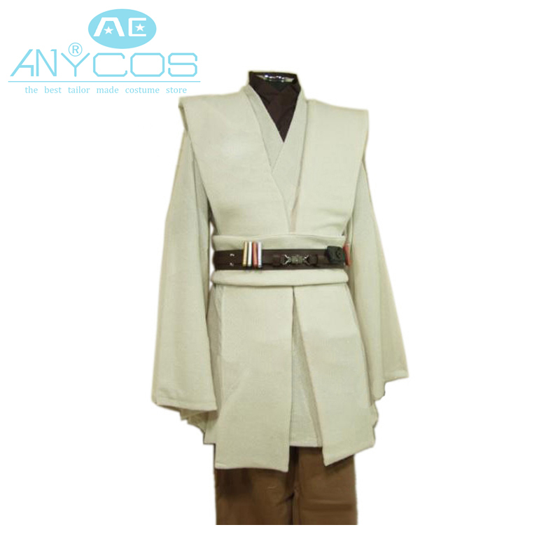 Jedi Master Obi-Wan Ben Kenobi Cosplay Tunic Costume Star Wars Outfit Cloak//Robe