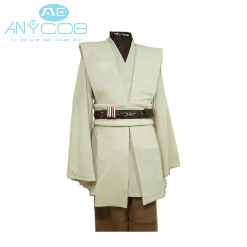 Star Wars Kenobi Jedi Uniform TUNIC Outfit Cloak Robe For Men Movie Halloween Cosplay Costume Custom Made