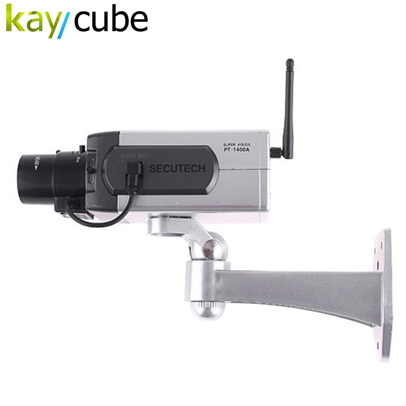 Wireless Dummy Camera LED Surveillance Motion Detection Security CCTV Wireless Fake Camera Body Free Shipping цена и фото