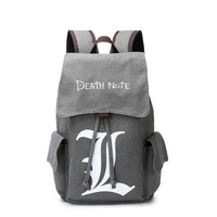Anime Periphery NARUTO Death Note Bag Adult Women Boy Backpack Japanese Carnival School Knapsack Fashion Gray Student Canvas Bag
