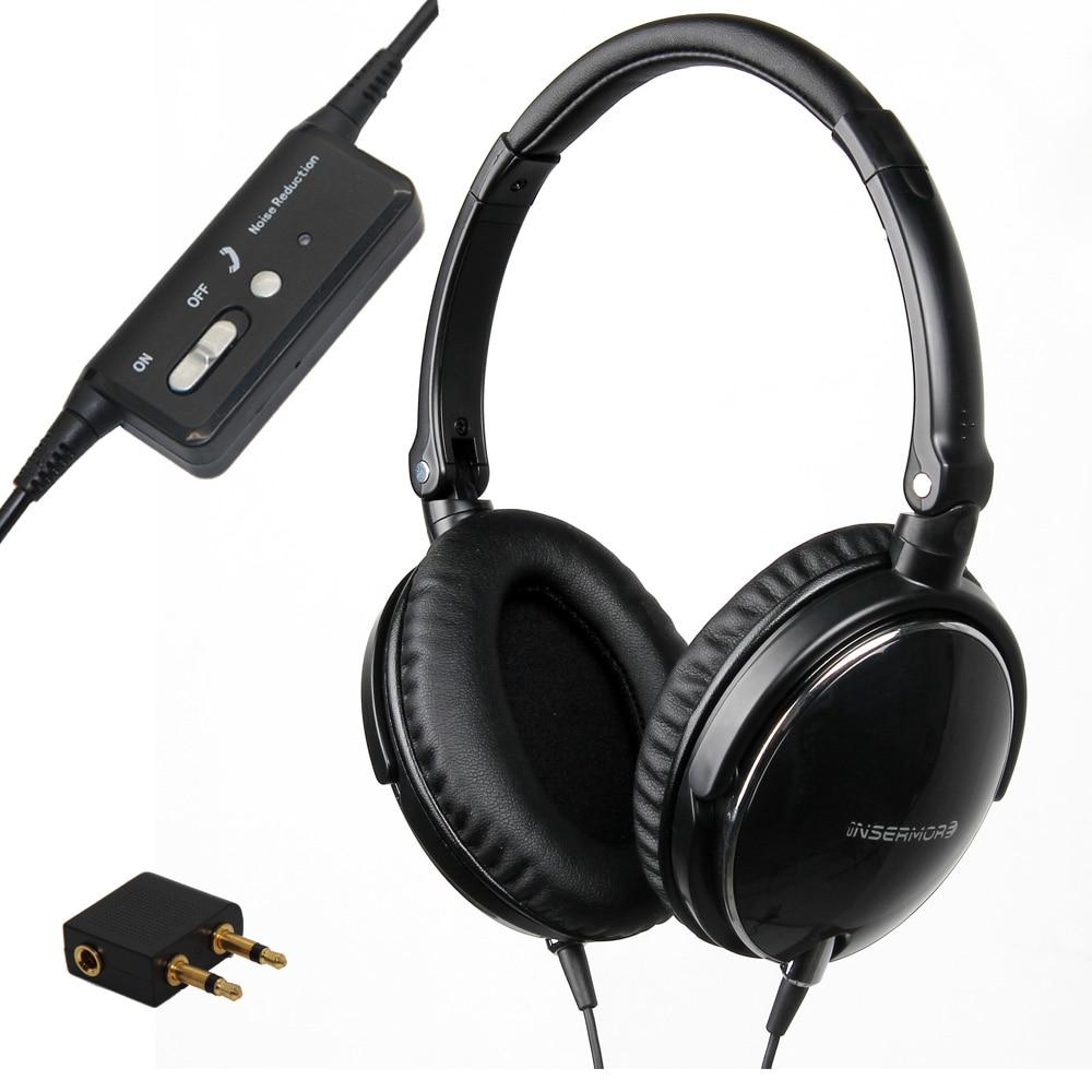 bilder für Active Noise Cancelling Kopfhörer DJ Studio Über ohr Kopfhörer Mit Mic Super Bass Stirnband Aktive Rauschunterdrückung Kopfhörer