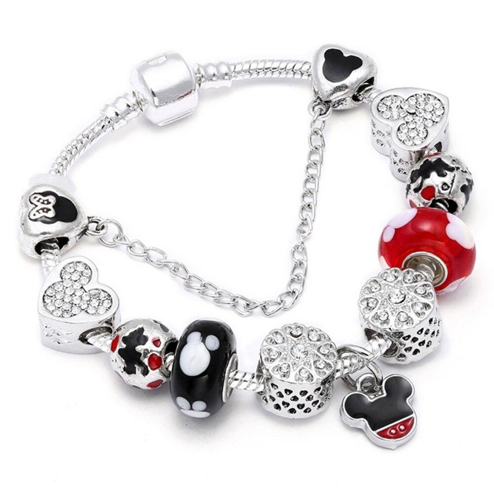SPINNER Mickey Trojan Dangle DIY Charm Bracelet con cadena de la - Bisutería - foto 3